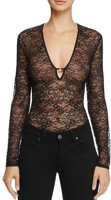 KENDALL + KYLIE Deep Plunge Lace Bodysuit