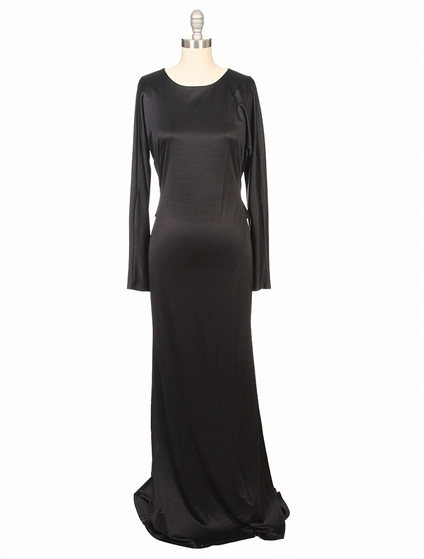 L'Agence Dolman Sleeve Dress With Pleated Back