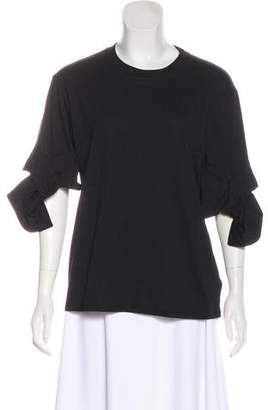 Victoria Beckham Victoria Knit Bow-Accented Top