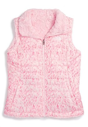Girl's The North Face 'Mossbud Swirl' Reversible Water Repellent Vest $85 thestylecure.com