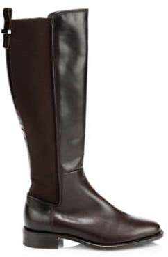 Aquatalia Women's Nastia Leather Knee-High Boots - Black - Size 9