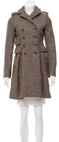 Marc by Marc Jacobs Double-Breasted Donegal Knit Coat