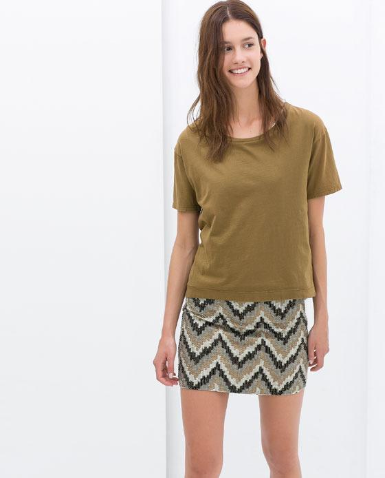 Zara Embroidered Skirt