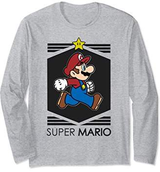 Nintendo Super Mario Star Walk Streetwear Long Sleeve Tee
