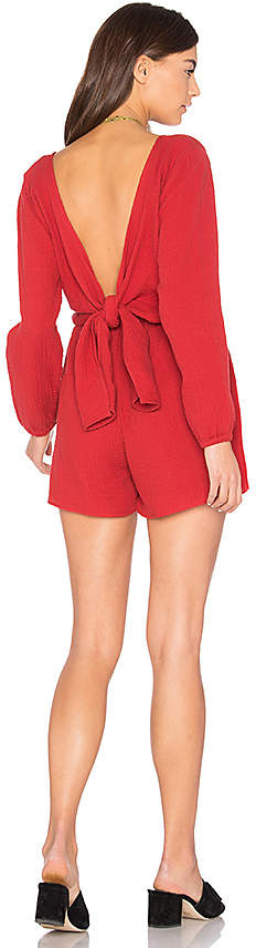 The Fifth Label Sweet Disposition Romper in Red