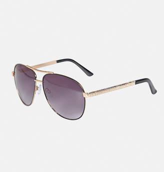 Avenue Cappucino Textured Metal Sunglasses