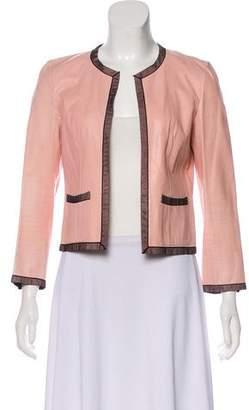 Chanel Mesh-Trimmed Leather Jacket