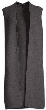 Eileen Fisher Long Side Slit Wool Vest
