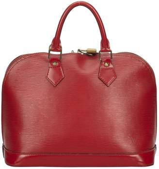 Louis Vuitton Vintage Alma Burgundy Leather Handbag
