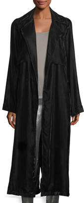 RtA Denim Karina Long-Sleeve Velvet Robe Duster