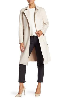 Catherine Malandrino Suede Open Trench Duster