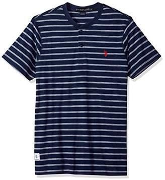 U.S. Polo Assn. Men's Short Sleeve Henley Striped T-Shirt
