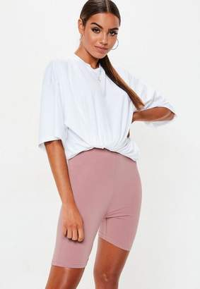 Missguided Mauve Cotton Elastane Cycling Shorts