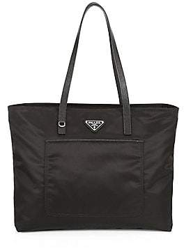 Prada Women's Large Vela Nylon Tote