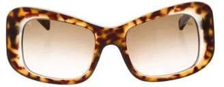 Marni Tortoiseshell Rectangular Sunglasses