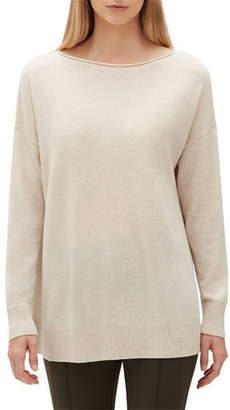 Lafayette 148 New York Cashmere Relaxed Pullover Sweater