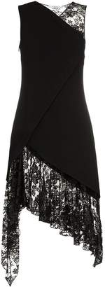 Givenchy sleeveless lace wool dress