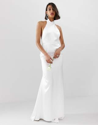 Asos EDITION halter backless maxi wedding dress