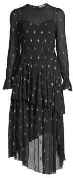 Joie Maylene Metallic Arrow High-Low Dress