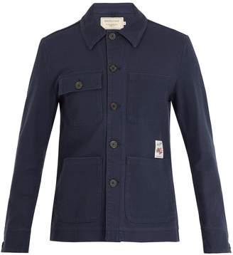 MAISON KITSUNÉ Patch-pocket woven-cotton jacket