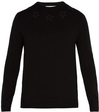 Givenchy Star Applique Wool Sweater - Mens - Black