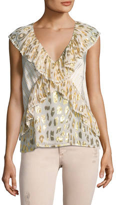 Manoush Debardeur Lame Plage Blouse