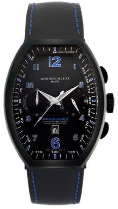 Montres de Luxe Men's EXN 8001 Estremo Titanium and Aluminum Chronograph Luminous Leather Date Watch