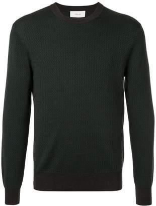Cerruti intarsia crew-neck jumper