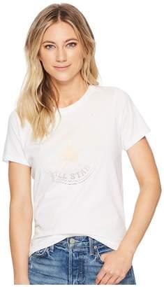 Converse Clear Foil Chuck Patch Crew Tee Women's T Shirt