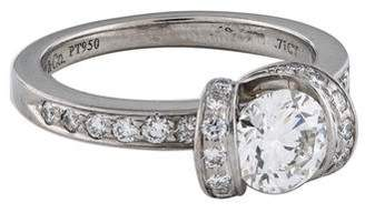 Tiffany & Co. Platinum Diamond Ribbon Engagement Ring