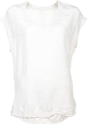 Raquel Allegra embossed blouse