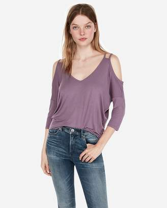 Express One Eleven Strappy Cold Shoulder London Tee