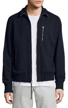 Rag & Bone Trooper Full-Zip Track Jacket, Navy $375 thestylecure.com