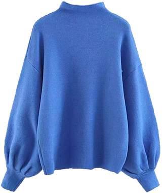 Goodnight Macaroon 'Row' Mock Neck Bishop Sleeve Sweater (6 Colors)