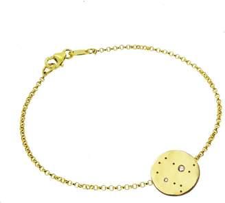 Yvonne Henderson Jewellery - Gemini Constellation Bracelet with White Sapphires Gold