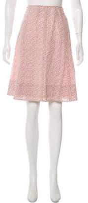 Marc Jacobs Floral Knee-Length Skirt