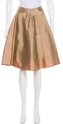 Balenciaga Metallic A-Line Skirt