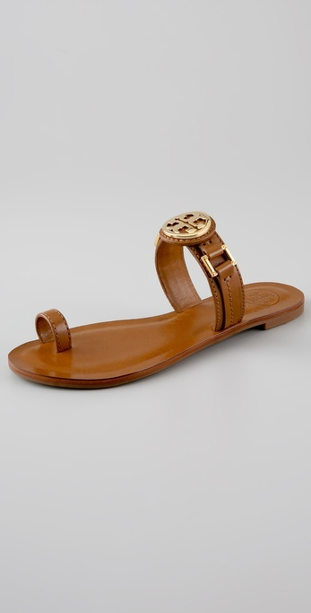 Tory Burch Calista Logo Flat Sandals