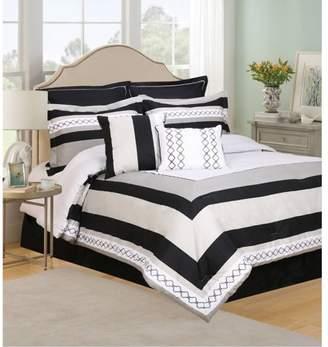Home + Life Henrik 8-Piece Bedding Comforter Set, Queen