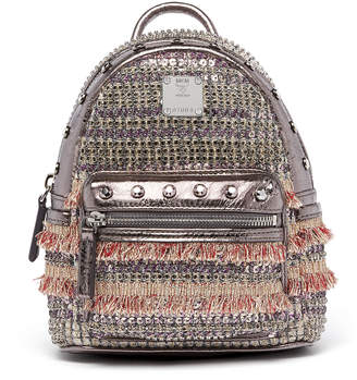 MCM Stark Backpack In Crystal Tweed