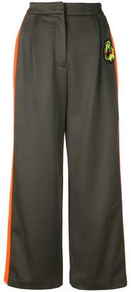 Versus tuxedo strip cropped trousers