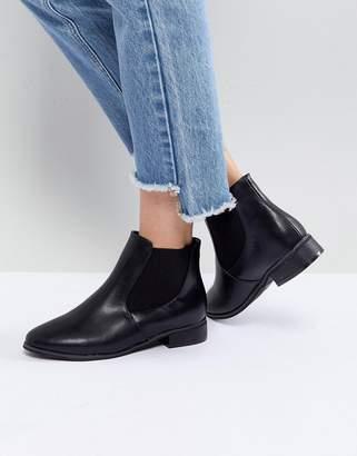 London Rebel Flat Classic Chelsea Boot