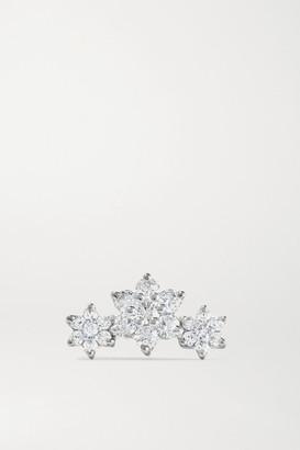 Maria Tash - Flower Garland 18-karat White Gold Diamond Earring