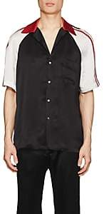 Gucci Men's Logo-Detailed Silky Twill Bowling Shirt - Black