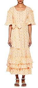 Lisa Marie Fernandez Women's January Embroidered-Eyelet Cotton Dress - Orange
