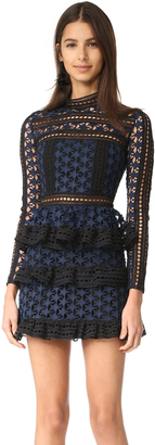 Self Portrait High Neck Star Lace Dress $435 thestylecure.com