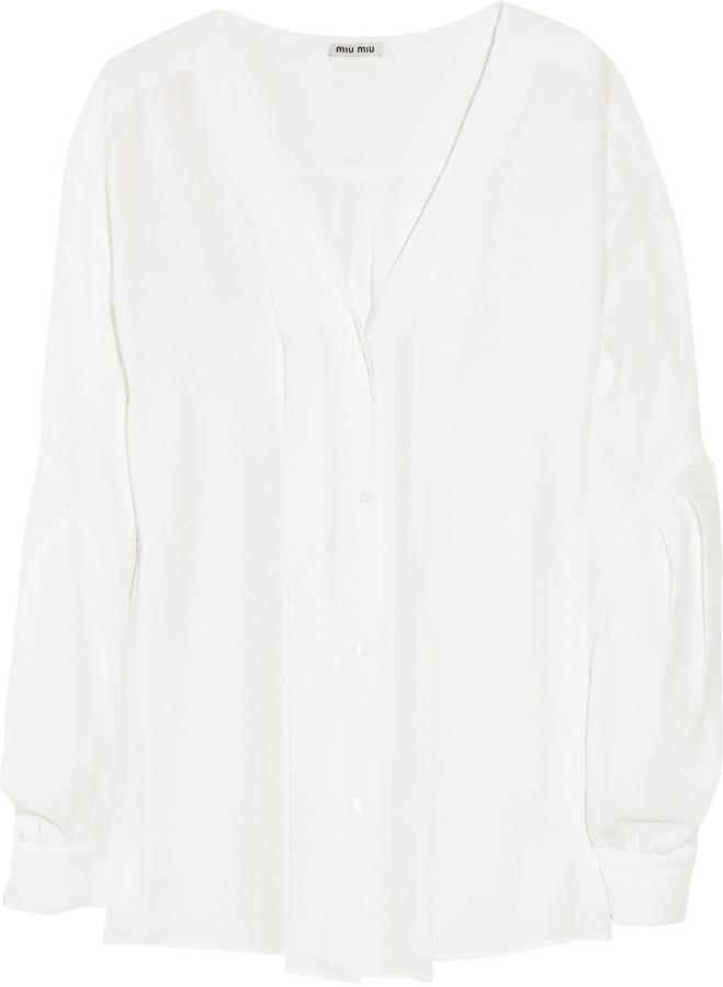 Miu Miu Stretch-crepe blouse