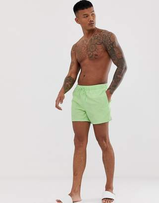 Design DESIGN swim shorts in mint green super short length