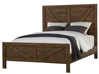 Emerald Home Pine Valley Carmel Brown Bed with Inset Rustic Panels And Framing, King