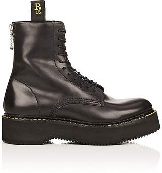 R 13 Women's Single Stacked Leather Boots